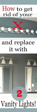 Remove Vanity Light How To Replace A Hollywood Light With 2 Vanity Lights