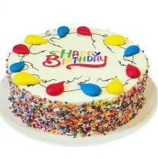 Amazoncom Triolos Bakery Vanilla Birthday Cake Happy Birthday