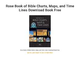 Rose Bible Maps And Charts Rose Book Of Bible Charts Maps And Time Lines Download