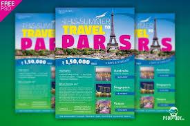 Travel Agency Flyer Social Media Free Psd Template