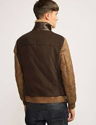 armani jeans leather jacket brown faux