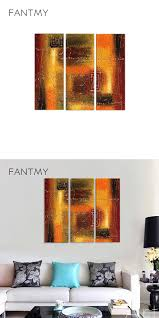 FANTMY 2017 new arrive Three-picture Combinatio painting for living room  wall canvas HandPainted Abstract art Oil Paintings