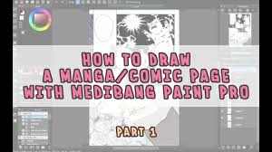 manga page size how to draw manga with medibang paint pro everything about paper