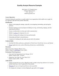 76 Quality Assurance Resume Examples Cover Letter Quality