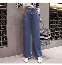 Plus Size Wide Leg Raw Hem High Waist Loose Straight Denim Pants Jeans For Women S M L Xl 2xl 3xl 4xl 5xl