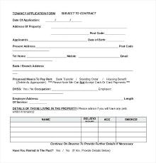 Application Form For Rental Tenant Rental Application Form Free Download Templates