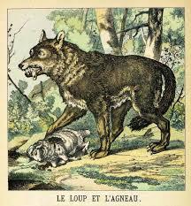 Dessin Le Loup Et Lagneau De La Fontaine