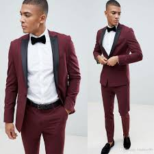 Slim Fit Suits Designer Wine Red Men S Wedding Dress Slim Fit Suits Formal Prom Brand Designer Sports Groomsman Tuxedos Suits Jacket Pants