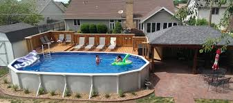 above ground pool deck ideas pools designs with best swimming l cbefefad