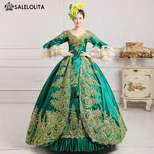 ball gown costume. aliexpress.com : buy 2016 royal green lace dance stage costume historical victorian masquerade ball gowns print marie antoinette dress for party from gown d