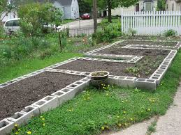 this is a pretty self explanatory step once you get the frame of your beds all laid out and make sure the concrete blocks are