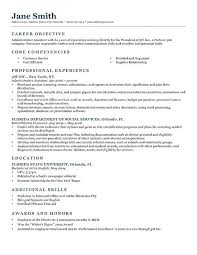 Resume Examples For Objective Full Size Of Sample Resume Objective ...