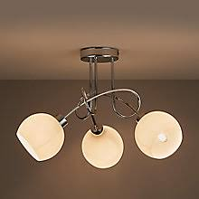 lighting diy. NOW £25 Vacuna Chrome Effect 3 Lamp Ceiling Light Lighting Diy