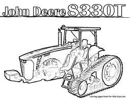John Deere Tractor Coloring Pages To Print Cute John Deere Tractor ...