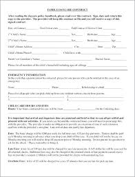 Daycare Contract Template Free Child Care Contract Examples Parent Provider Template Medium