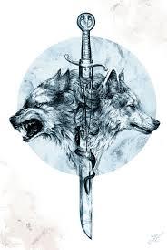 Dire Wolf Art Print Tetovani Tetování Vlka Nápady Na Tetování E