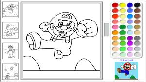 Super Mario Online Coloring Pages Game Super Mario Color Game For Game Colouring Book L