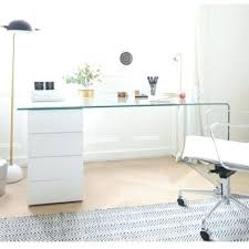 glass top desk with drawers furniture inspiring l shaped glass clear top computer desk with stylish glass top desk with drawers