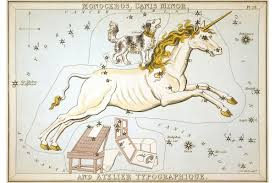 Unicorn Star Chart Details About Unicorn Constellation Star Chart Engraving By Sidney Hall