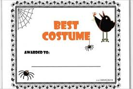 Costume Contest Certificate Template Printable Halloween Certificates Major Magdalene Project Org