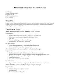 Resume How To Write Objective 6 Administrative Assistant Resume