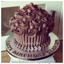 Chocolate Giant Cupcake Cupcake Frosting Cupcake Cakes Giant