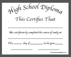 homeschool high school diploma templates  high school diploma template doc 1