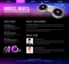 Free Html5 Css3 Template Music