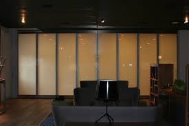 switchable smart glass bifold doors switched off frosted