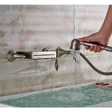 wall mount bathtub waterfall faucet hand shower