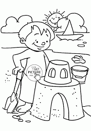 Small Picture Summer Day on the Beach coloring page for kids seasons coloring