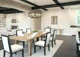 size of chandelier for dining table room what linear modern ta