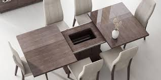 appealing modern wood dining room table with italy made prestige extendable walnut dining table boston