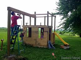 building a playhouse with an adjoining swingset sawdust and embryos