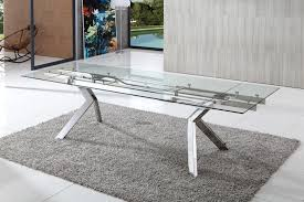 levante extending glass dining table