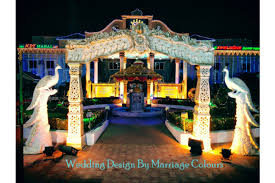 Indian Marriage Lawn Design Outdoor Indian Wedding Decorations Chennai