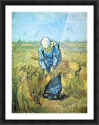 farm worker by van gogh picture frame printing