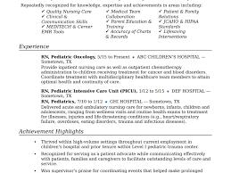 Resume Resume Examples Of Nursing Resumes Registered Nurse