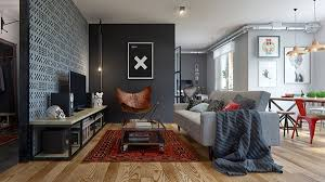 Masculine Interior Design Adorable Interior IG Highly Functional Masculine Apartment In Belarus Home