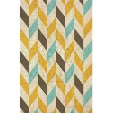 blue tricolor chevron canvas rug