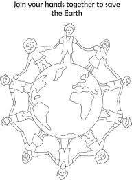 Earth Day Printable Coloring Page For