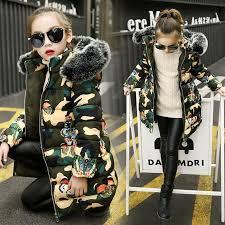 Girl Jacket Autumn <b>Winter Warm Cotton Coat</b> Children Fashion ...