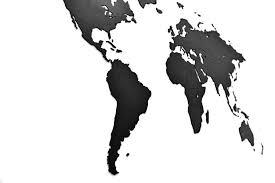 <b>Деревянная карта мира World</b> Map Wall Decoration Large, черная ...