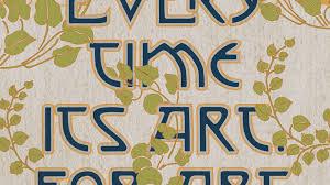 Art Nouveau Poster Designers Designing A Typographic Art Nouveau Poster