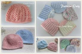 Free Crochet Patterns For Baby Hats Inspiration Lacy Crochet Preemie Girls Baby Hat Free Crochet Pattern