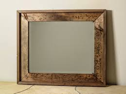 Bathroom Framed Mirrors Similiar Large Distressed Wood Mirror Keywords