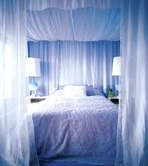 Canopy Bed With Curtains Bed With Curtains Blue Canopy Bed Curtains ...