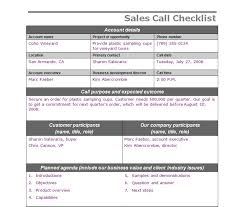 Sales Calls Template Sales Call Checklist Sales Call Template