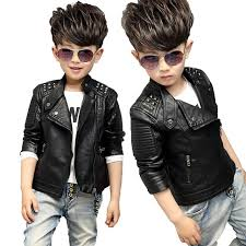 teenager girl boys leather jacket boys casual black solid children outerwear kids girls coats winter leather