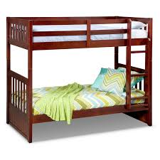 Bunk Bed Ranger Twin Over Twin Bunk Bed Merlot Value City Furniture